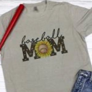 Baseball Mom Sunflower Tee